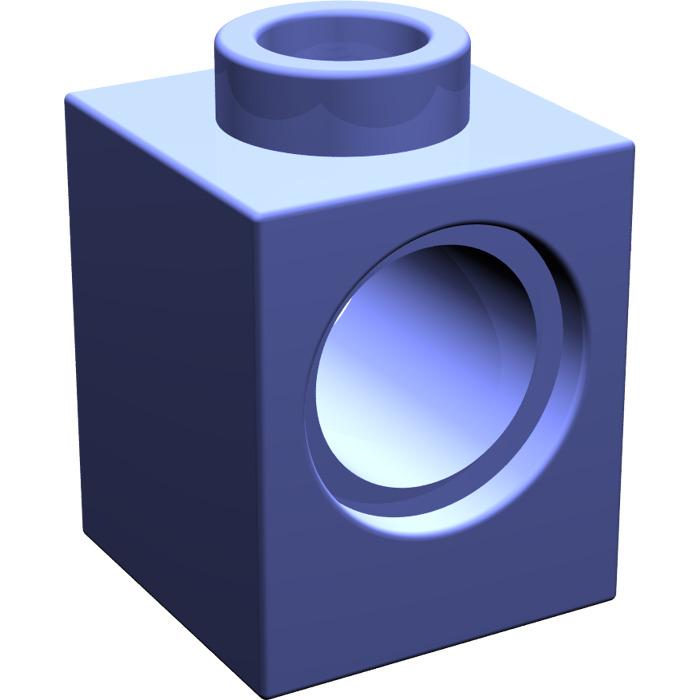 2x LEGO 6541 Mattoncino Technic con foro 1x1 Bianco654101