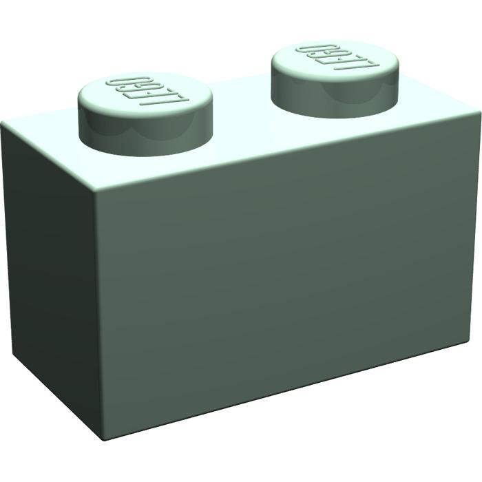 4x Lego 3004 Brick 1x2 Green Sand4616581