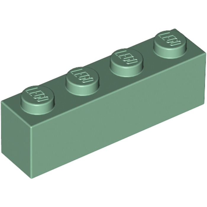 Lego 4 Sand Green 1x4 brick block NEW
