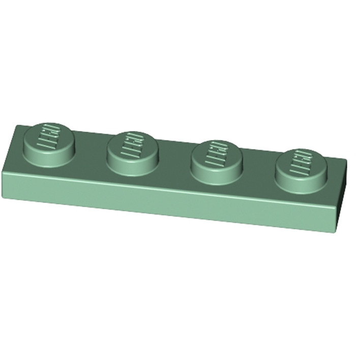 4x Lego ® 3710 1x4 Plate Sand Green NEW