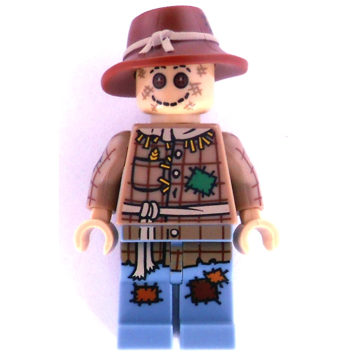 LEGO mini figure scarecrow