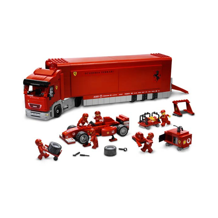 lego scuderia ferrari truck set 8654 brick owl lego. Black Bedroom Furniture Sets. Home Design Ideas
