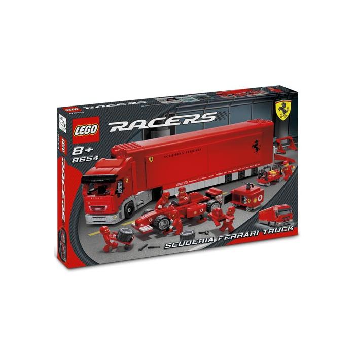 lego scuderia ferrari truck instructions