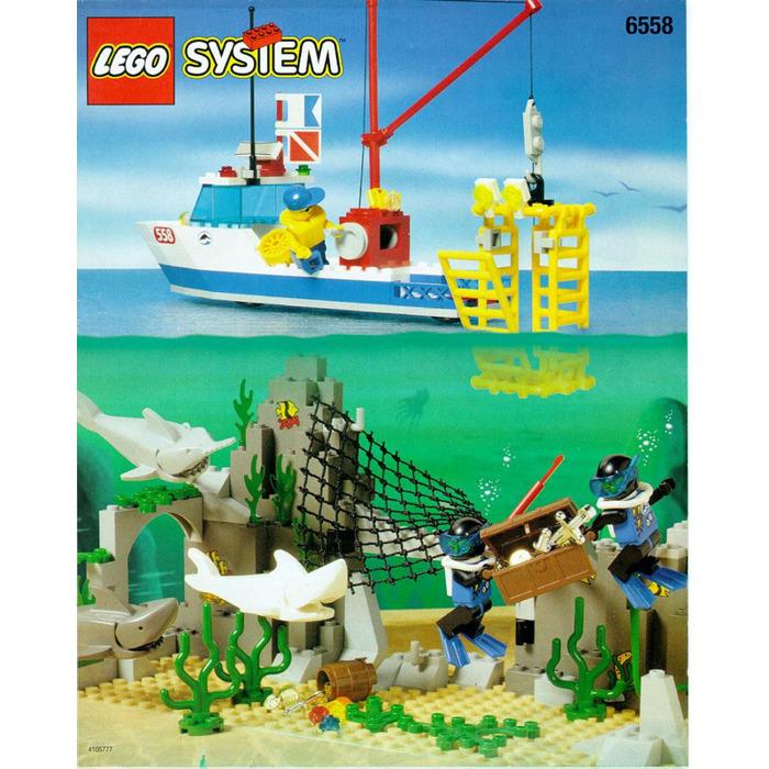 Lego Shark Cage Cove Set 6558 Instructions Brick Owl Lego
