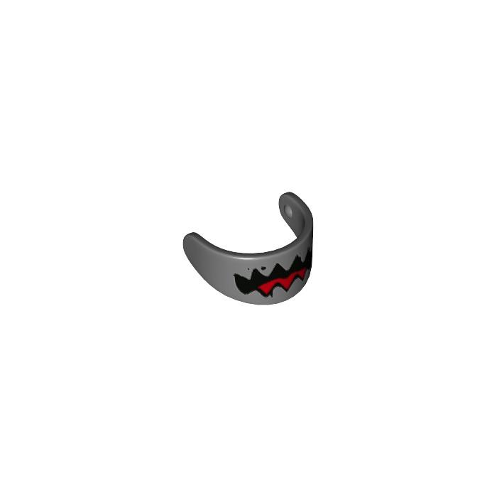 LEGO NEW Transparent Black Minifig Helmet Visor 5x 4163306 Brick 88407