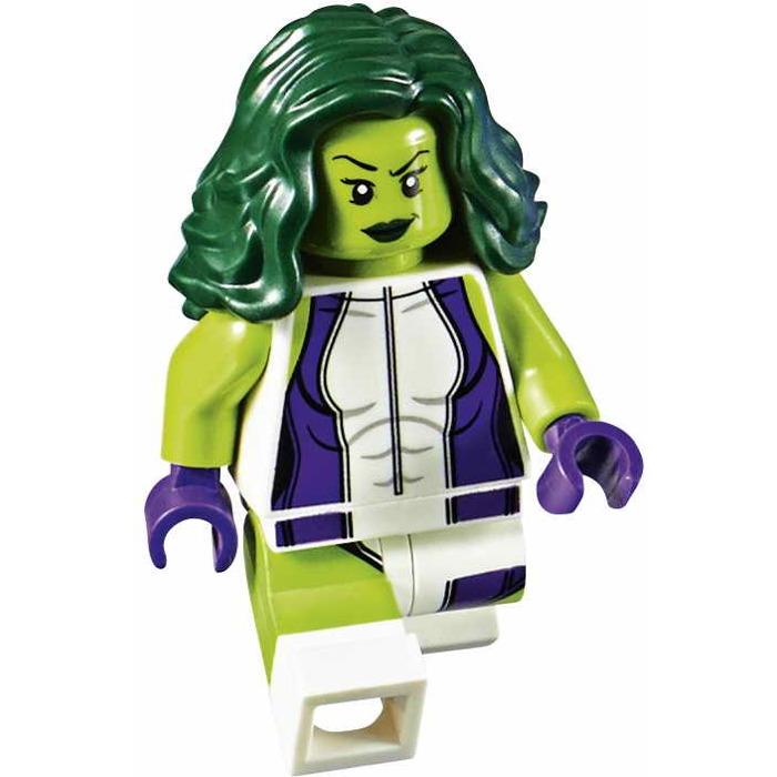 LEGO She-Hulk, Green Minifigure | Brick Owl - LEGO Marketplace