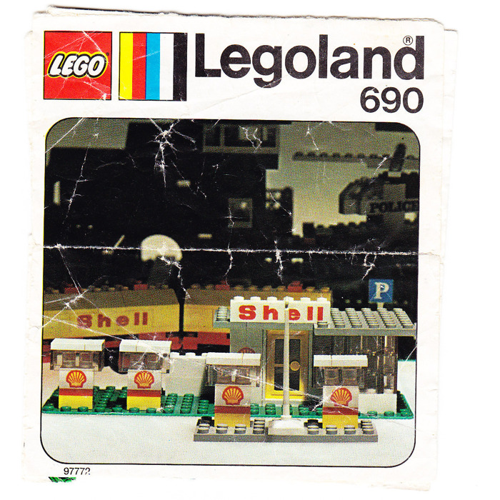 Shell Garages: LEGO Shell Garage Set 690 Instructions
