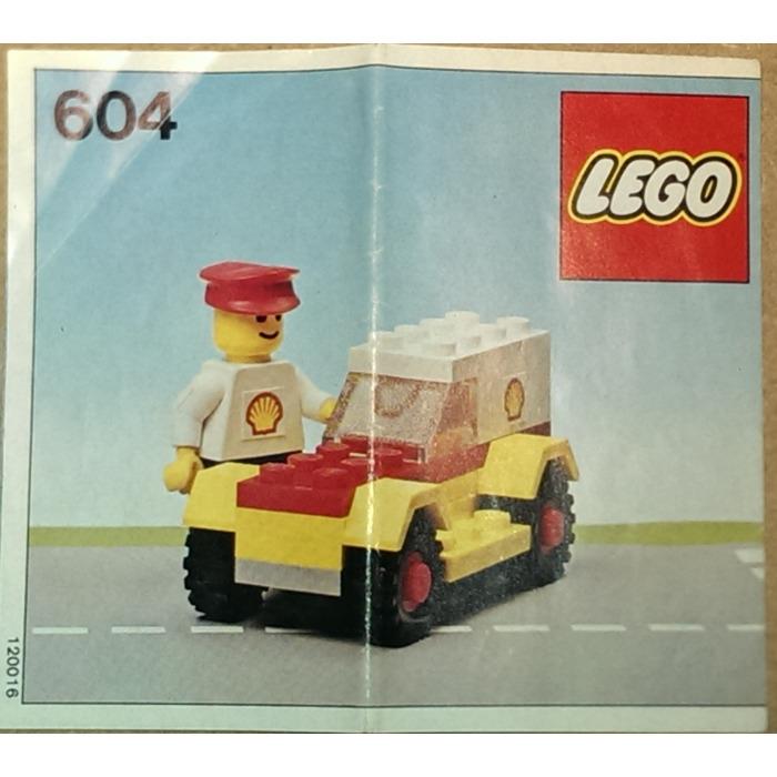 LEGO Shell Service Car Set 604-1 Instructions