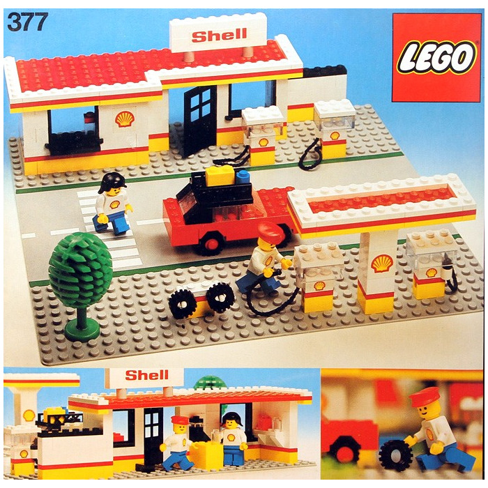 lego shell service station set 377 1 brick owl lego marketplace. Black Bedroom Furniture Sets. Home Design Ideas