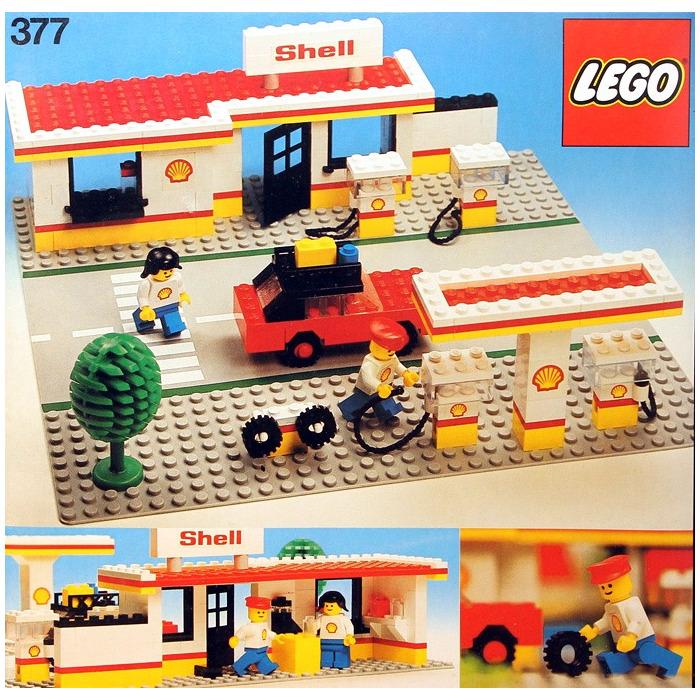 lego shell service station set 377 1 brick owl lego. Black Bedroom Furniture Sets. Home Design Ideas