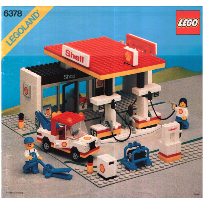 lego shell service station set 6378 brick owl lego marketplace. Black Bedroom Furniture Sets. Home Design Ideas