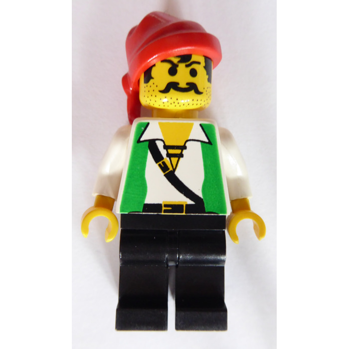 Lego Shipwreck Island Pirate With Green Vest Minifigure Brick Owl Lego Marketplace
