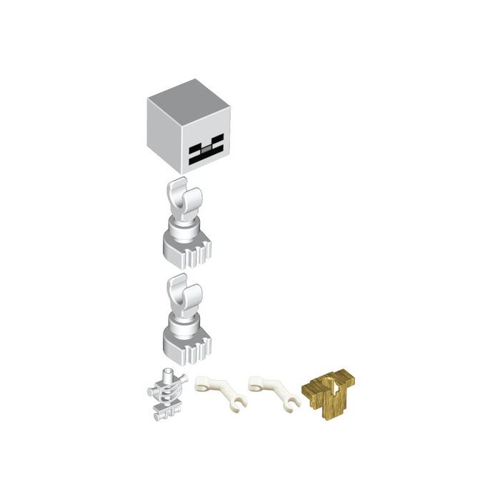 LEGO White Head with Minecraft Skeleton Face Decoration