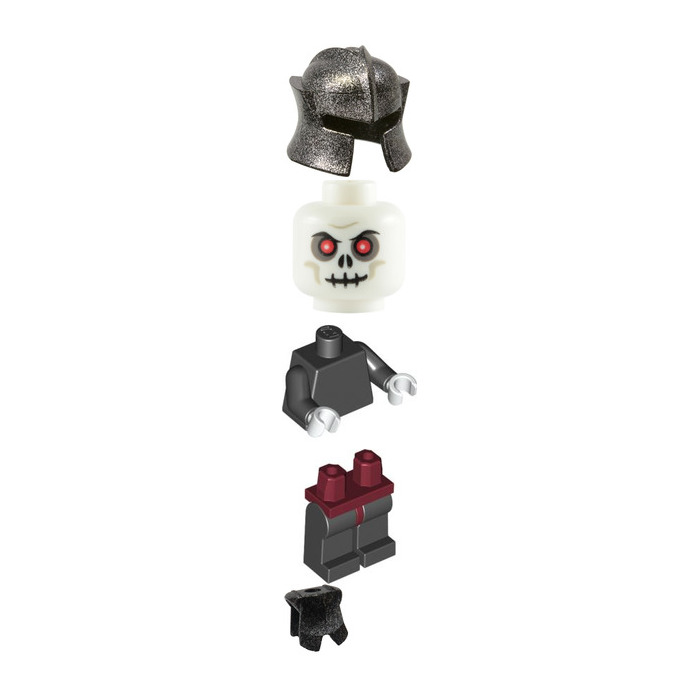 Lego Skeleton Warrior With Speckled Breastplate And Helmet