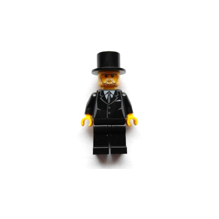 Lego Black Minifigure Torso With Suit Jacket Over White