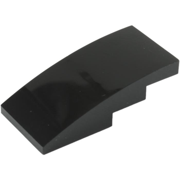 Grey 2 x lego 93606 curved brick dark grey slope brick curved 2x4 new new