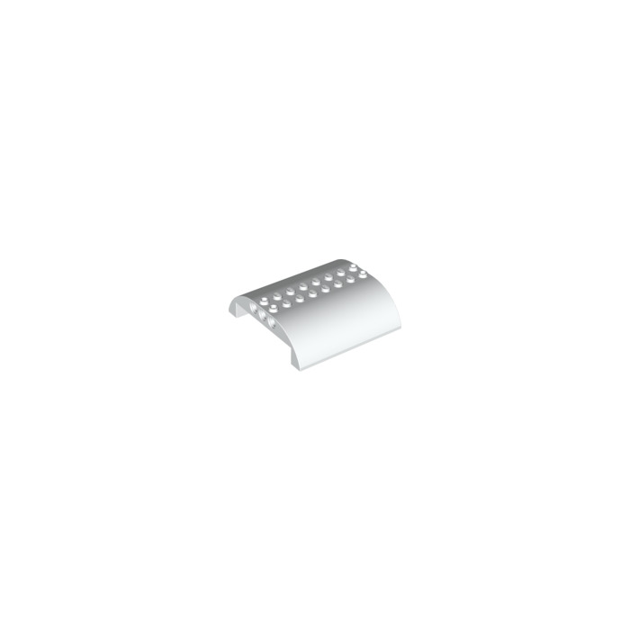 LEGO 3 x Dach gebogen weiß White Slope Curved 8x8x2 Double 54095