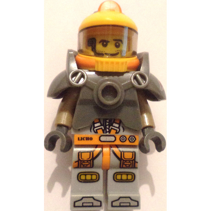 RARE NEW G096B G043A Lego Space Helmet with Chrome Gold Visor /& Hose