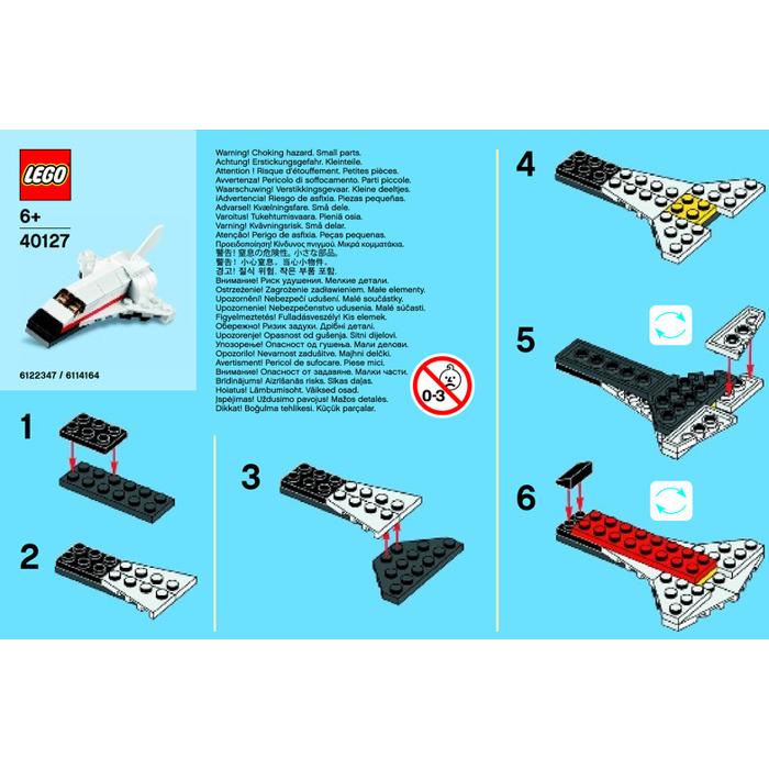 Lego Space Shuttle Set 40127 1 Instructions Brick Owl Lego