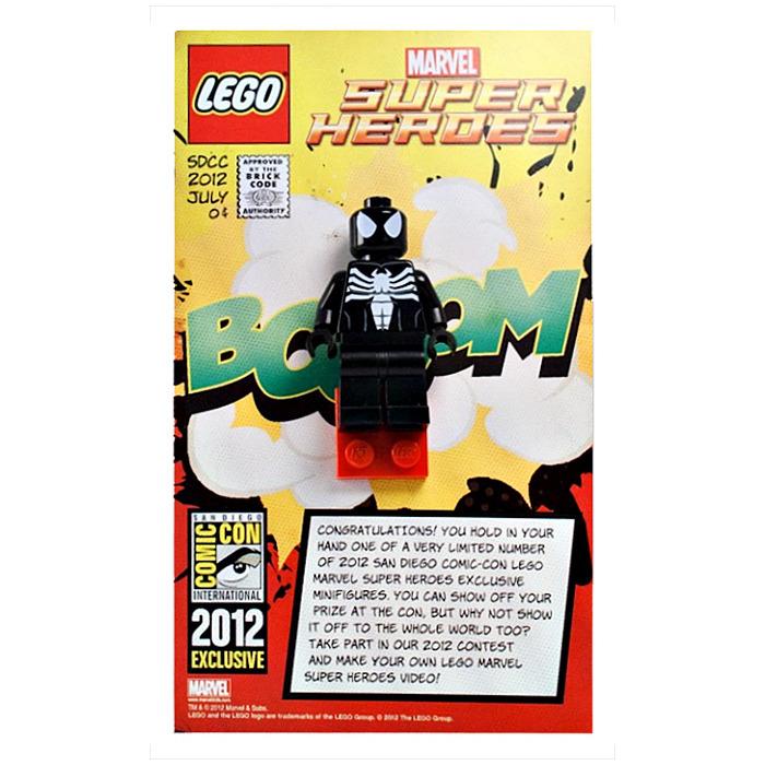LEGO Spider-Man in Black Symbiote Costume Set COMCON023 | Brick Owl ...