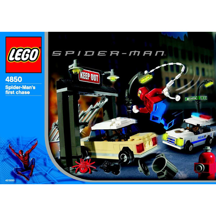 Lego Spider Mans First Chase Set 4850 Instructions Brick Owl