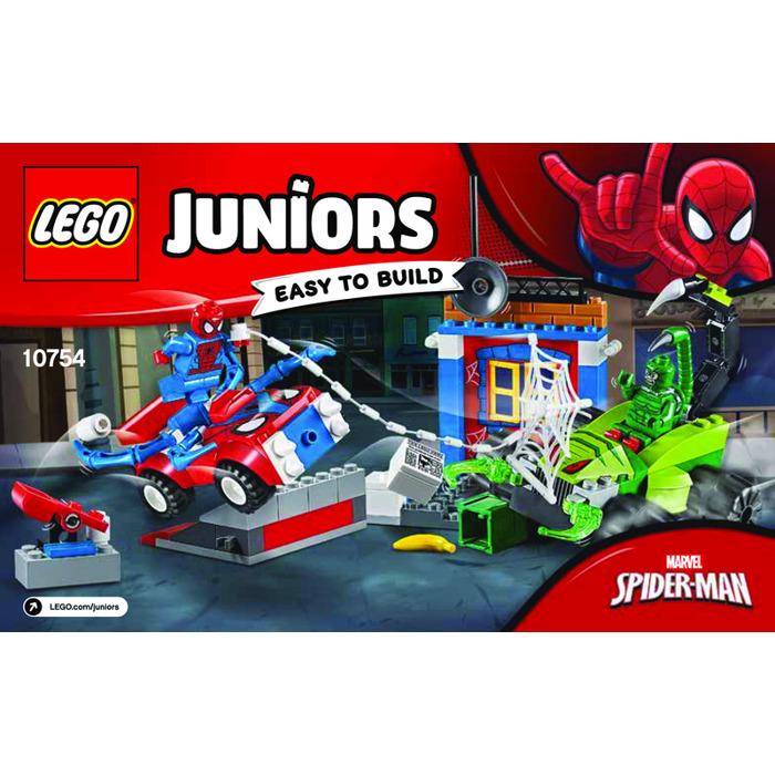 Lego Spider Man Vs Scorpion Street Showdown Set 10754 Instructions
