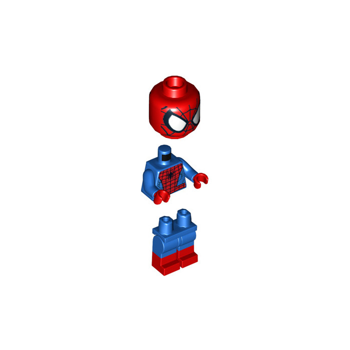 Great LEGO Spider Man With Red Boots Minifigure