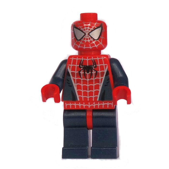 Lego spider man with silver eyes and dark blue arms legs minifigure brick owl lego marketplace - Lego spiderman 2 ...