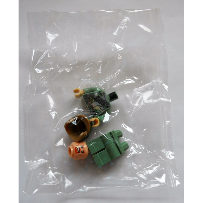 LEGO Boromir Head (Recessed Solid Stud) (10569) Comes In