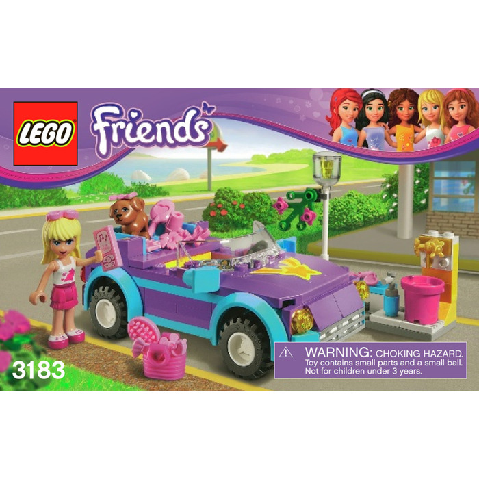 Lego Stephanies Cool Convertible Set 3183 Instructions Brick Owl