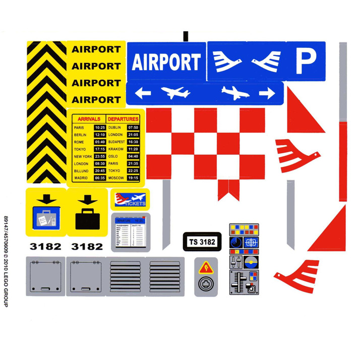 lego airplane instructions 3182