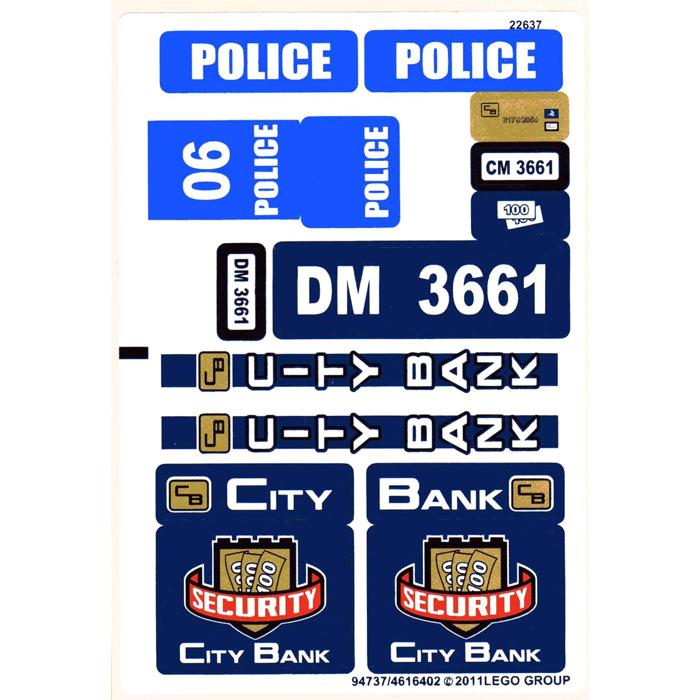 LEGO Sticker Sheet for Set 3661 (94737)   Brick Owl - LEGO Marketplace