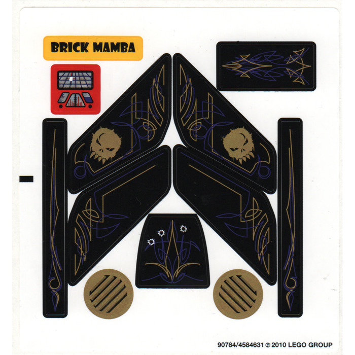 LEGO Sticker Sheet for Set 5982 (88781)   Brick Owl - LEGO ...   Lego Space Sticker Sheets