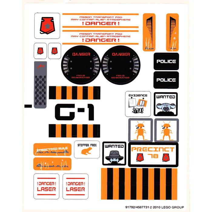 LEGO Sticker Sheet for Set 7646 (63093)   Brick Owl - LEGO ...   Lego Space Sticker Sheets
