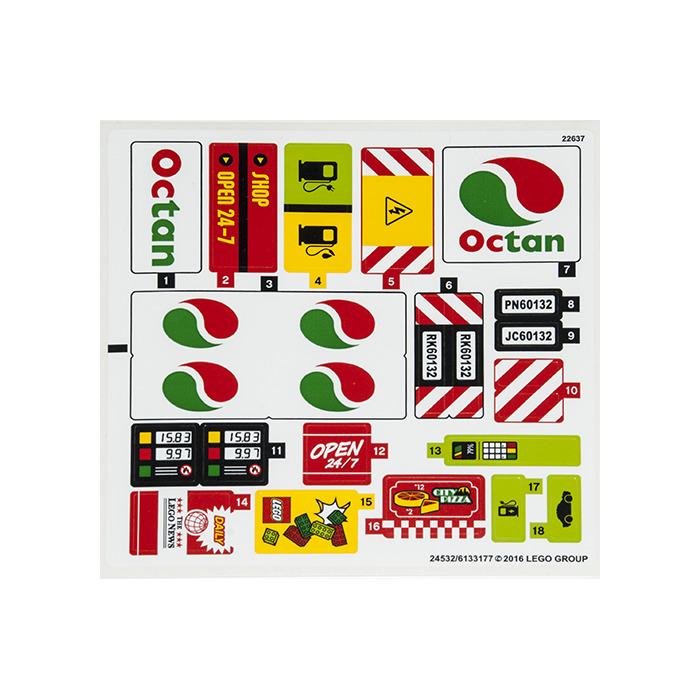 LEGO Sticker Sheet for Set 60132 (24532) | Brick Owl - LEGO Marketplace