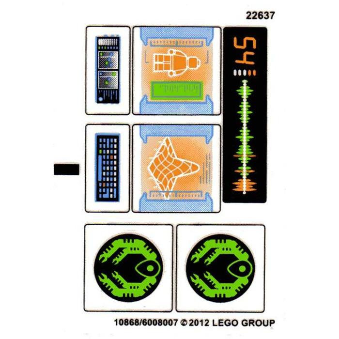 Lego Sticker Sheet for Set 6873 10868//6008007