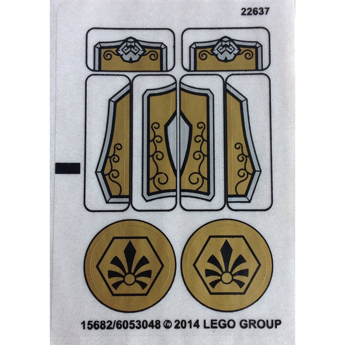 Lego Sticker Sheet For Set 70123 15682 Comes In Brick