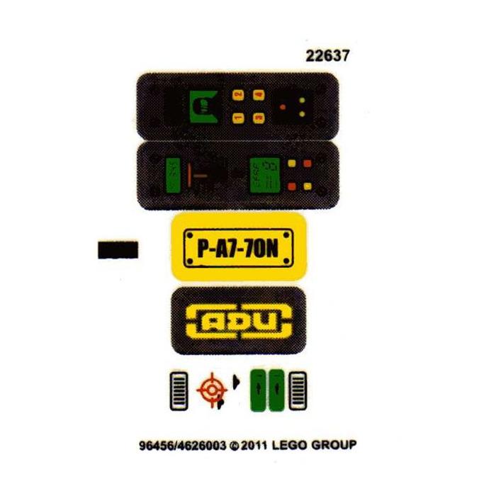 LEGO Transparent Sticker Sheet for Set 7648 (62069 ...   Lego Space Sticker Sheets
