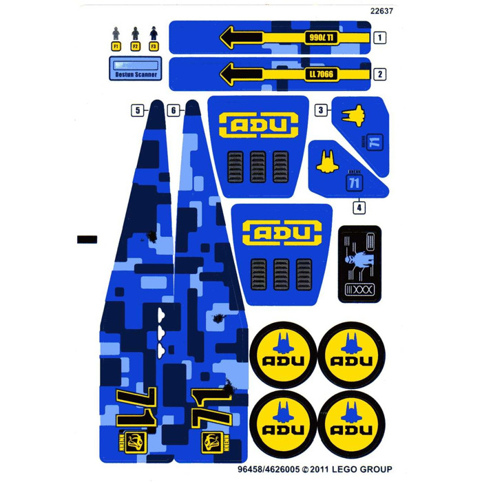 LEGO 5980 - Space Police III - Squidman's Pitstop ...   Lego Space Sticker Sheets