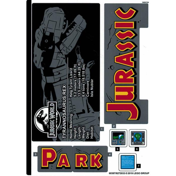 14676//6042946 NEW LEGO Sticker Sheet for Set 76006
