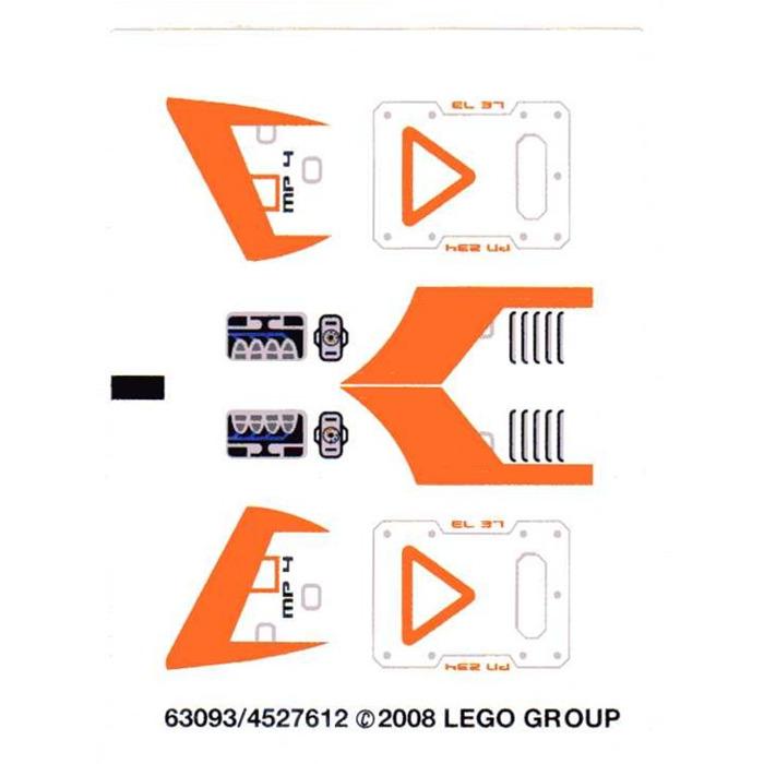 LEGO Sticker Sheet for Set 70704 (13069)   Brick Owl ...   Lego Space Sticker Sheets