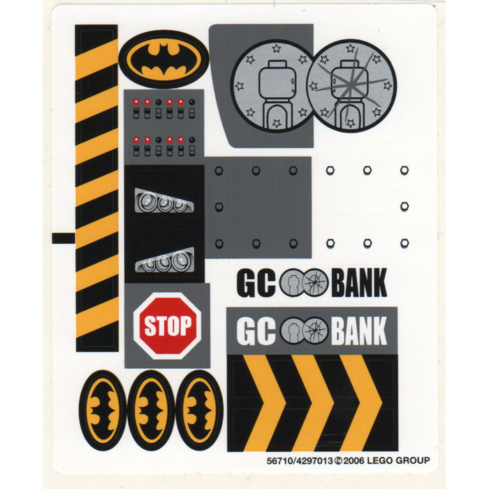 The Batmobile: Two-Face/'s Escape STICKER SHEET LEGO 7781 Batman