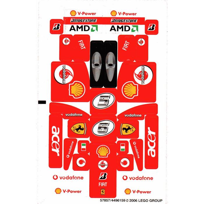 Lego Sticker Sheet For Set 8142 Vodafone Version 57857