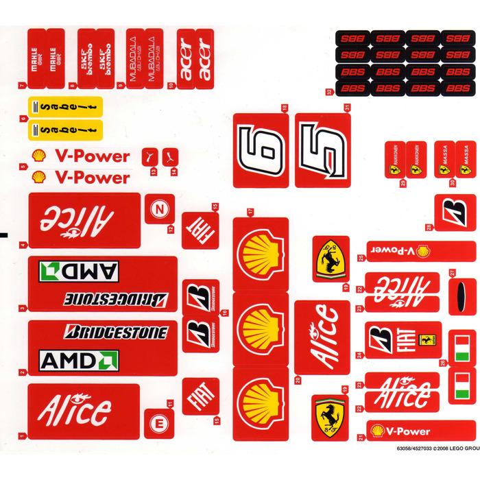 Lego Sticker Sheet For Set 8157 63058 Brick Owl Lego