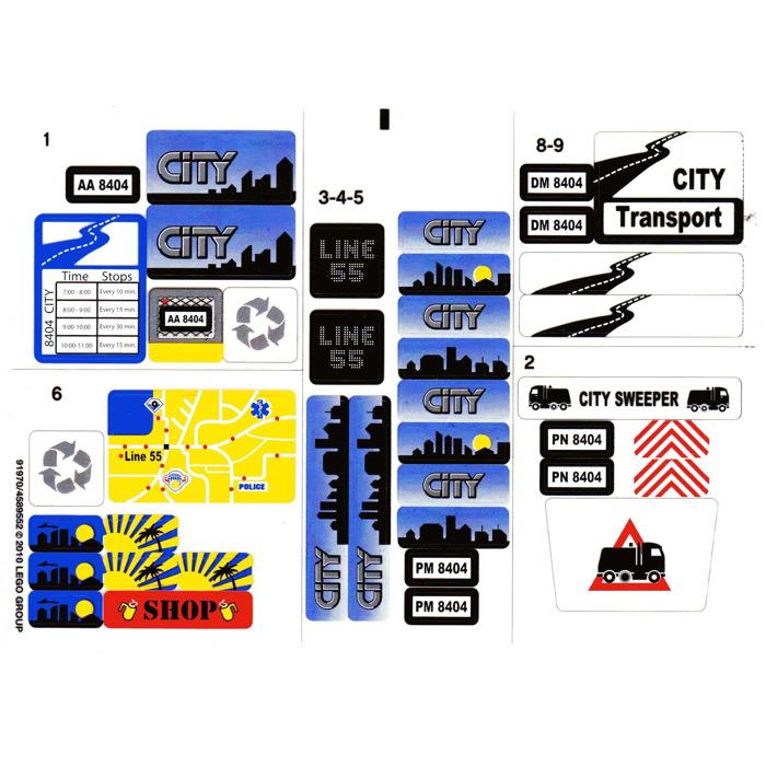 Lego Sticker Sheet For Set 8404 91970 Brick Owl Lego Marketplace