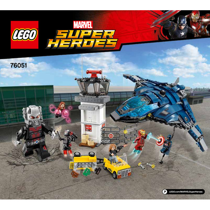 Lego super hero airport battle set 76051 instructions for Siege lego france