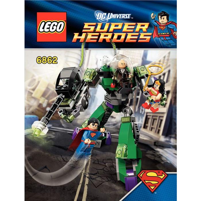 Lego Superman Vs Power Armor Lex Set 6862 2 Instructions Brick