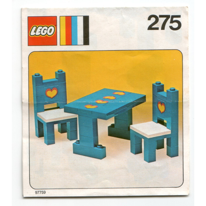 Lego Table And Chairs Set 275 Instructions Brick Owl Lego