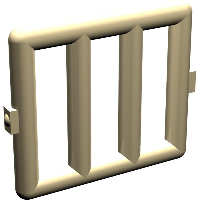 Lego tan bar 1 x 4 x 3 with 2 window hinges 6016 brick for 2 x 3 window