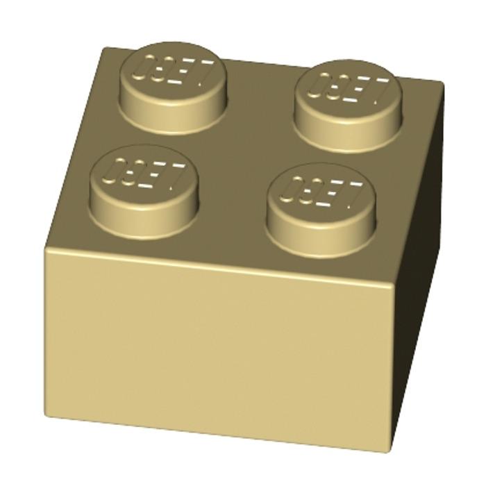 NEUF NEW beige foncé Brick 2x2 6 x LEGO 3003 Brique dark tan, sand yellow